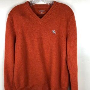 Express Burnt Orange Wool Sweater Large